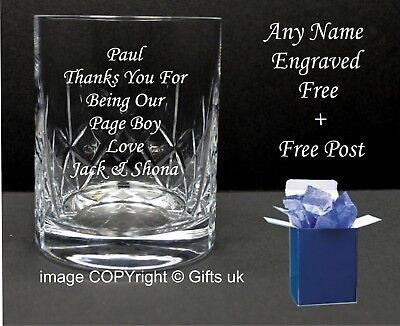 Personalised 11oz Dimple Base Whisky Glass Engraved Father Of The Groom Gift