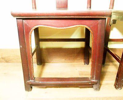 Antique Chinese High Back Chairs (Pair) (5767), Circa 1800-1849 5