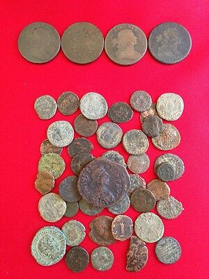 ☆ 50 Coins From Estate Collection ☆ Roman, World, Old Early US 1800s GOLD SILVER 7