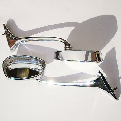 Schwanenhals Spiegel für VW Beetle Swanneck Albert Oval 1 Paar Aac126