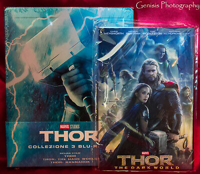 Thor Trilogy Limited Edition Steelbook Blu-Ray Import - Region Free + Art Cards 2