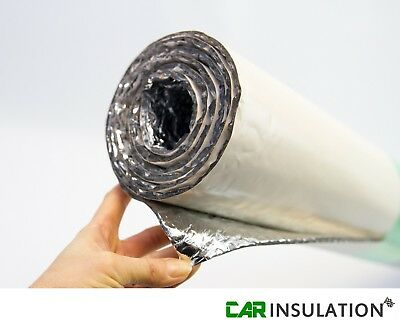 2Pc 1m x 1.8m Self Adhesive 6mm Double Bubble Foil Thermal Insulation Camper Van