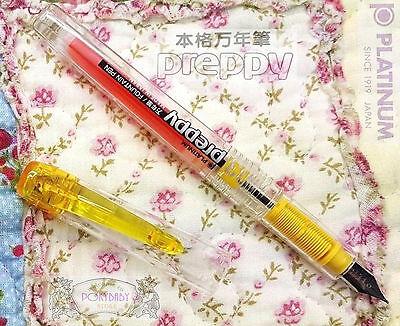 Platinum Preppy PPQ-200 Fountain Pen Clear BLACK 0.5 Medium BLACK ink