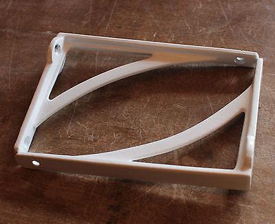 "Pair of 6"" x 4"" WHITE INDUSTRIAL ANTIQUE CAST VICTORIAN SHELF BRACKETS BR22w(x2) 3"