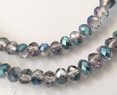 150 FACETTIERTE GLASPERLEN 3x4mm RONDELLE peridot Perlen nenad-design