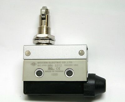 MN-5312 Top Threaded Cross Roller Plunger Panel Mount Sealed Limit Switch 10A 2