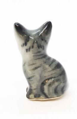Cat Ceramic Handmade Figurine Kitty Animal Miniature Decor Gifts Souvenir Kitten