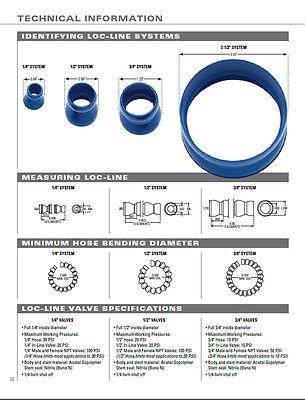 """(2) 2-1/2"""" Flare Nozzles 1/2"""" Loc-Line® USA Original Modular Hose System #51809 6"""
