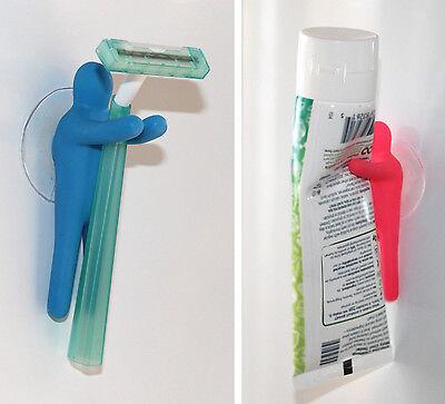 Suction Cup Hanging Set Hanger Hook /& Bathroom Organizer Lucore 8 PC Kids Toothbrush Holder