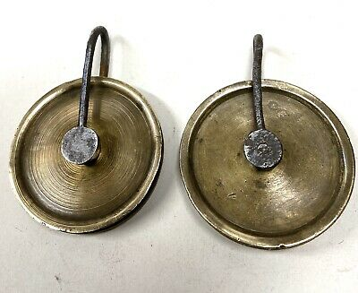 ## Pair Of Antique Grandfather/ Longcase Clock Pulleys 2