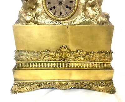 Antique French Brass or Bronze Mantel Bracket Clock by ARERA 7