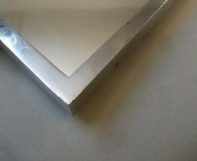 Original Art Deco Servier Tablett Metall Chrom Spiegel groß 46cm x 27cm um 1930 10