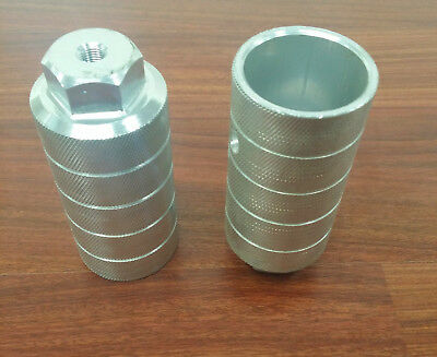 "EVO JUMBO SHAFT 50mm CHROME THREADED 3//8/"" AXLE BICYCLE PEGS--ONE PAIR"