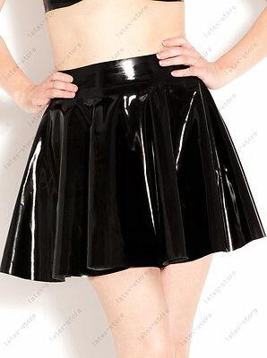 358 Latex Rubber Gummi mini Pleated Skirts dresses customized catsuit 0.4mm sexy 3