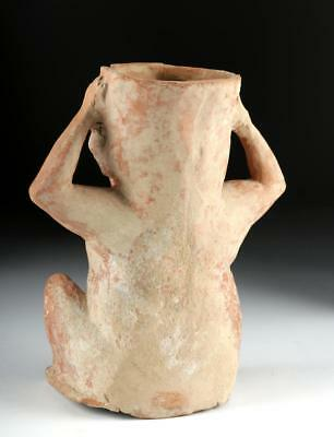 Hellenistic Greek Terracotta Vessel - Seated Dionysos Lot 27C