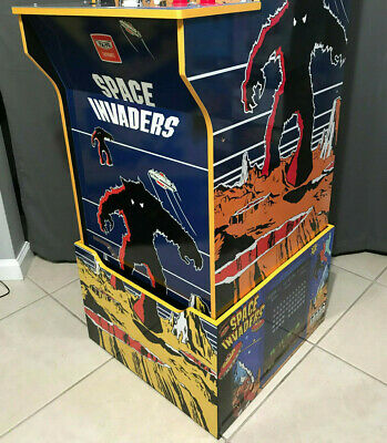 Arcade1up Cabinet Riser Graphics - Space Invaders Graphic Sticker Decal Set 2