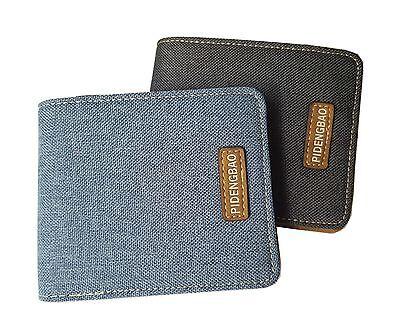 Fashion Decent Style Slim Bifold Casual Card Holder Men Women Canvas Wallet 3