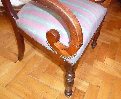 Ausgefallener alter Sessel Spätbiedermeier um 1850 4
