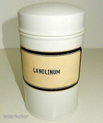 Apothekendose 1000 ml / 1 Liter Lanolinum alt Rosenthal Porzellan alter Stempel