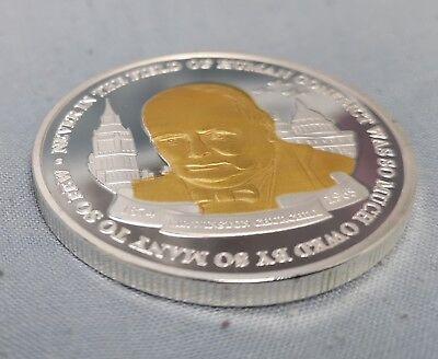 Winston Churchill Gold & Silver Coin Union Jack World War II 1874 1965 I Sir UK 6
