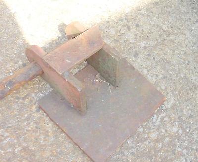 alte Stange Verbindungsstück Eisen Bauer antik Gerät Ersatzteil Griff Gegenstück 3