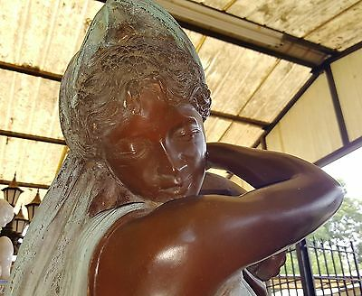 """Classical Cast Bronze Sculpture Fountain Rebecca at the Well  Lady with Urn 56""""H 2"""