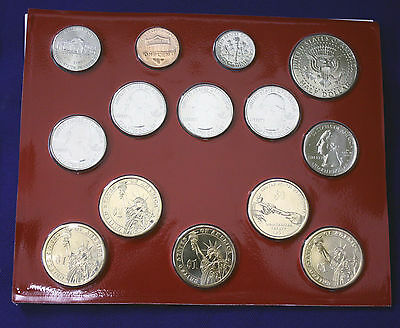 """2011 U.S. Mint Set. Complete and Original. 28 coins 14 each from """"P"""" and """"D"""" 5"""