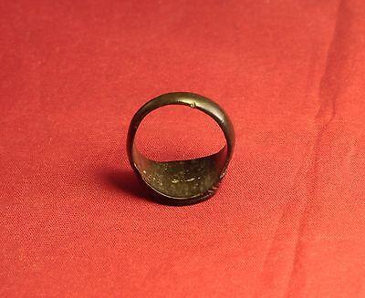 Ancient Roman Legionary Seal Ring, Finger Ring, 2. Century 5