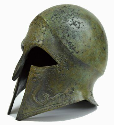 Corinthian Bronze helmet with Snakes - Ancient Greece - Small size 3