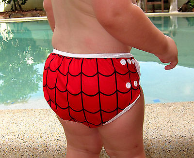 Cool Pineapple Swim Cloth Nappy - washable reuseable swimmer adjustable baby 4