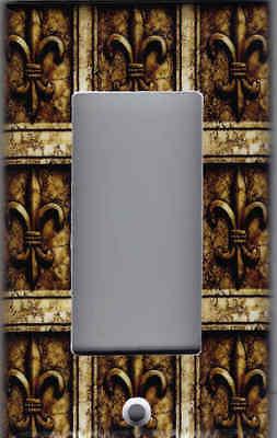 FLEUR DE LIS Brown Bronze Print - Fleur De Lis Kitchen Decor ...