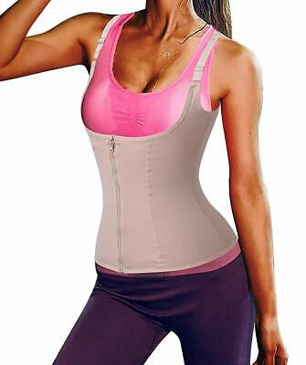 Shapermint Women Waist Trainer Corset Zipper Vest Body Shaper Cinchers Tank Top 8