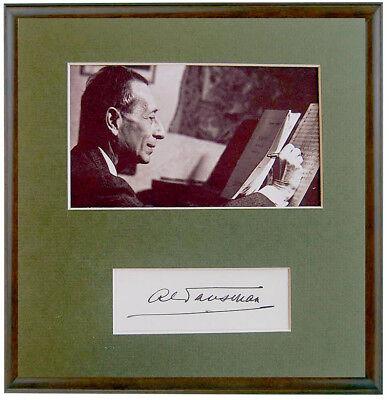 ALEXANDRE TANSMAN Composer JEWISH PIANIST Hand SIGNED AUTOGRAPH + PHOTO + MAT 4