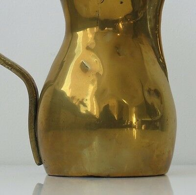 "Copper Antique 11"" Dallah Arabic Middle East Kettle Pot Marked 4"