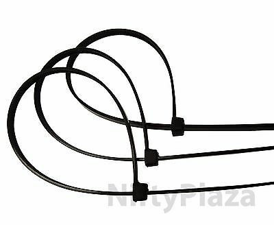 NiftyPlaza 14 Inch Cable Ties - Heavy Duty - 50 LBS 100 Pack Nylon Wrap Zip Ties 7