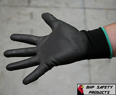 Global Glove Pu Polyurethane Coated Work Gloves 12 Pair Pug17 (S,m, L, And Xl)