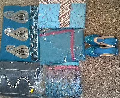 Children's Bollywood designer sarees with matching blouse for 6-12 year old girl 3