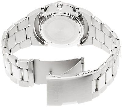 Bulova 96B220 Men's Dress Blue Dial Silver-Tone Stainless Steel Quartz Watch 2