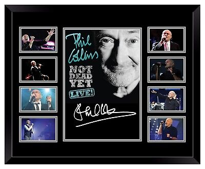 Phil Collins Not Dead Yet Tour Signed Limited Edition Framed Memorabilia