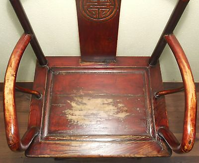Antique Chinese Ming Arm Chair (5921), Cypress Wood, Circa 1800-1849 10