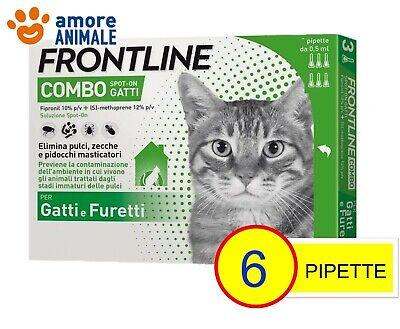 Frontline Combo Gatto - 6 Pipette - Antiparassitario Antizecche Antipulci Gatti 2