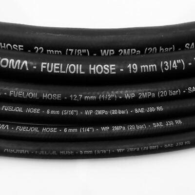 VARI DIA GOMMA nitrile benzina diesel Olio Carburante Linea Tubo Flessibile da 2 metri di lunghezza