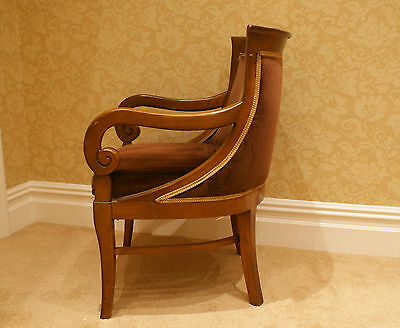 2 Armchairs/Dining Chairs Carved Solid Mahogany? Wood 4