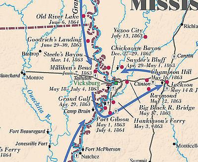 CIVIL WAR BATTLEFIELD Map 31 x 43 150th Anniversary Edition - $7.50 ...