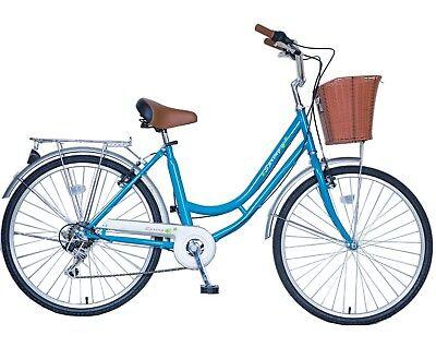 "Sale! SPRING 28"" 6 Speed Lady Town Dutch Bike & Basket & Bell Girl Birthday Gift"