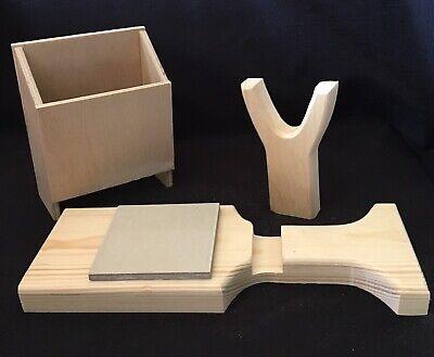 Hot Glue Gun Holder Regular & Mini Original Wood Stand Organizer Floral Crafts 5