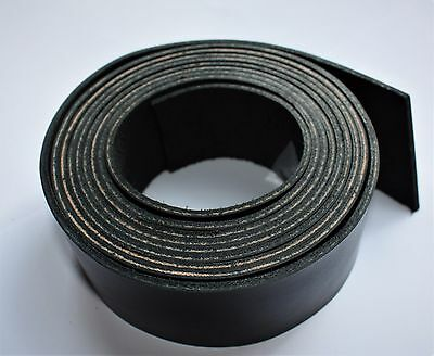 200 cm long BLACK LEATHER STRAP BELT BLANK STRIP width 10-100 mm 2 mm thick 3
