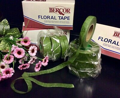 """Green Florist Tape"" 12 Sticky Stretchy. Corsage-Bouquets-Stems, Flowers, Crafts 4"