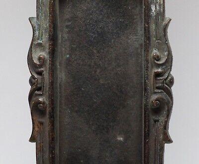 Antique Cast Bronze Figural Pocket Plate