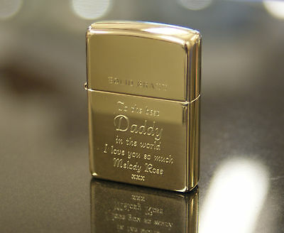 Personalised Zippo Lighters, free engraving, fast free delivery. Genuine Zippo 8